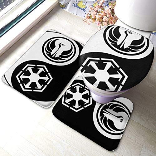 Juego de 3 alfombras para inodoro de baño con logotipo imperial, alfombrilla...