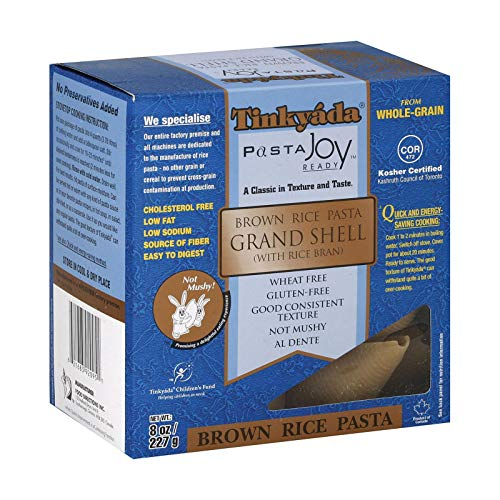 Tinkyada Grand Shell Brown Rice Pasta, 8 Ounce - 12 per case.