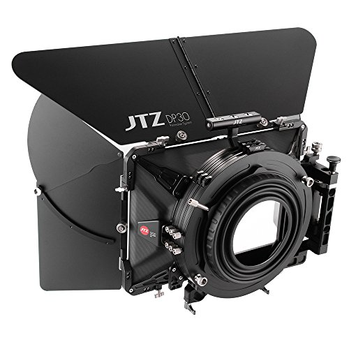 JTZ DP30 Cine Carbon Fiber 5.65x5.65 Matte Box with 15mm/19mm Rod Rail and Top Handle for Sony FS5 FS7 ARRI RED Canon C100 C200 C300 BMD Blackmagic BMPCC BMCC Pocket Cinema Panasonic GH4 GH5 Camera