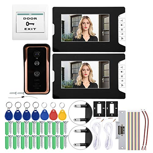 zcyg Timbre Timbre para Puerta Video Doorbell, Video Cableador Intercom Timbre 7 Pulgadas Sistema De Cámara De Puertas De Acceso De 7 Pulgadas.