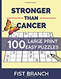 Stronger Than Cancer: Easy Sudoku Puzzles For Adult | Get Well Soon Gift | Cancer Recovery Gift