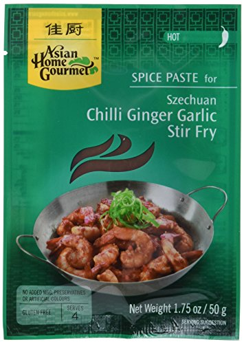 Asian Home Gourmet Würzpaste Chili & Ingwer & Knoblauch, 6er Pack (6 x 50 g)