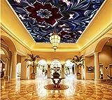 Weaeo Fondo De Pantalla Personalizado 3D Flor De Techo Papel Tapiz Real De Lujo Para Las Paredes Hermosa Pared Murales Decoración Para El Hogar-400X280Cm