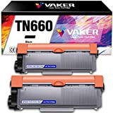 VAKER Compatible Toner Cartridge Replacement for Brother TN660 TN-660 TN630 to use for Brother MFC-L2700DW MFC-L2707DW HL-L2380DW DCP-L2540DW HL-L2300D HL2340DW MFC-L2740DW Printer (Black, 2 Pack)