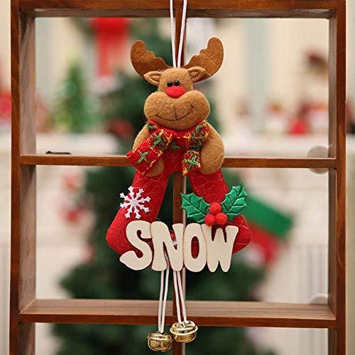 VHJ Hristmas Decorations Tree Small Pendant Alphabet Mupai Santa Claus Deer Bear Decor,lu