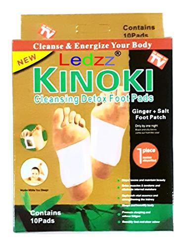 Ledzz Kinoki Detox Foot Pads Pack of 1 10pc (10 Pads)