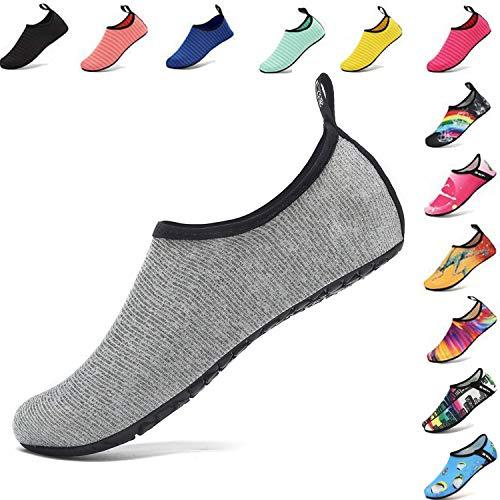 VIFUUR Water Sports Unisex/Kids Shoes Grey/Silver - 11-12 W US / 9.5-10.5 M US (42-43)