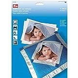 Prym 611930-Kreativ-Stoff zum Bedrucken, Baumwolle, weiß,