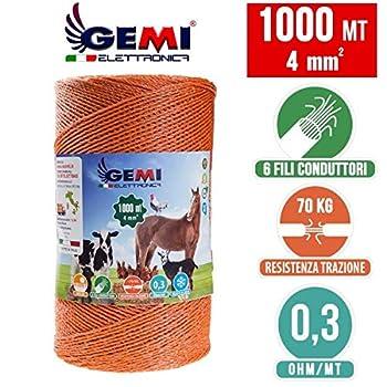 Kit complet pour clôture électrique clôture électrifiée pour animaux sangliers chien chevaux : 1 x ELECTRIFICATEUR 220V + 1 x Fil 1000 MT 4 Mm² + 200 pcs Isolateur Pour Piquets En Fer
