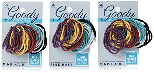 Goody Ouchless No Metal Hair Elastics, Brooke, 2 mm, 36 Count