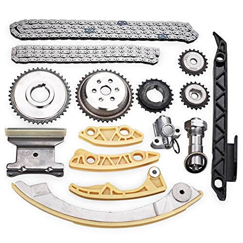 PUENGSI Replace 12680750 9-4201S 9-4201SX Engine Timing Chain Kit Tensioner Crank Sprocket Shaft Sprocket Guide Rail fit for Buick Chevy Pontiac SAAB Saturn 2.0L 2.2L 2.4L 3.0L