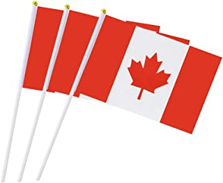 Canada Flag Canadian Hand Held Small Stick Mini Flags for Sport Parade Party Olympic..