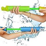 XBR Juego de 2 Pistolas de Agua más Grandes Set Super Water Blaster Water Squirters para niños Juego de Agua de Verano para Sea Pool Water Park 2 piezas-33 cm