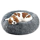 Vanansa Cama grande para perro, lavable para gatos de tamaño mediano y grande, cómoda y esponjosa para perros, 4 tamaños para dormir dulce, cálido, color negro 70 cm