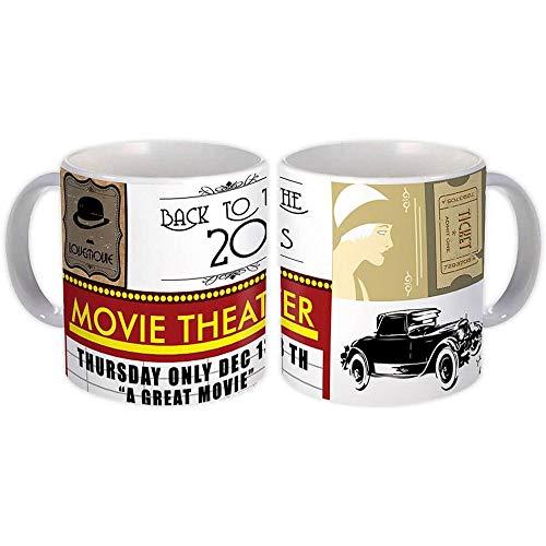Powrót do kina samochodowego z lat 20. : Prezent Kubek : Retro Vintage Pop Art
