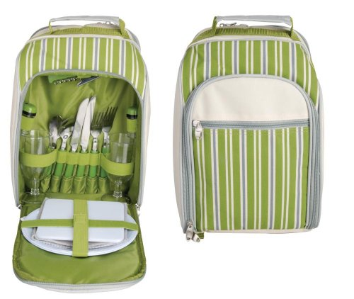 Esschert Design EL Picknick Kühltasche 2 Personen, grün, 26.2 x 15.4 x 33.5, EL054