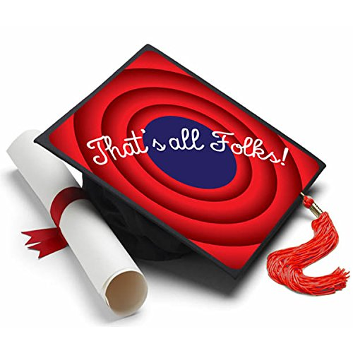 That's all Folks Graduation Cap Tassel Topper