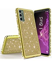 Mylne for Samsung Galaxy Note 20 Glitter Case,Electroplating Bling Diamond Soft Gel TPU Silicone Shockproof Protective Shiny Sparkle Case Cover