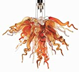 SHIJING Weihnachten Mini Borosilikat Moderne Lampen Hänge Murano-Glas Kronleuchter Beleuchtung Esszimmer