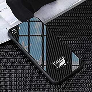 F Sport Lexus iPhone Case Carbon Fiber Design Mix Tempered Glass 7,8+,X,XR,XS (iPhone X)
