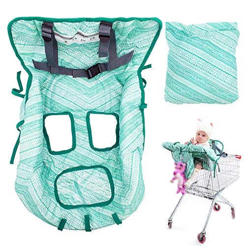 Shopping Cart Cover High Chair Cover for Baby Toddler, Foldable Universal Fit Baby Cart Cover for Girls and Boys