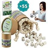 EM - 55 perline di ceramica con scatola ecologica e sacchetto in cotone biologico riutilizzabili, purificatore naturale per acqua per caraffa, bollitore, lavandino, lavastoviglie e alimenti