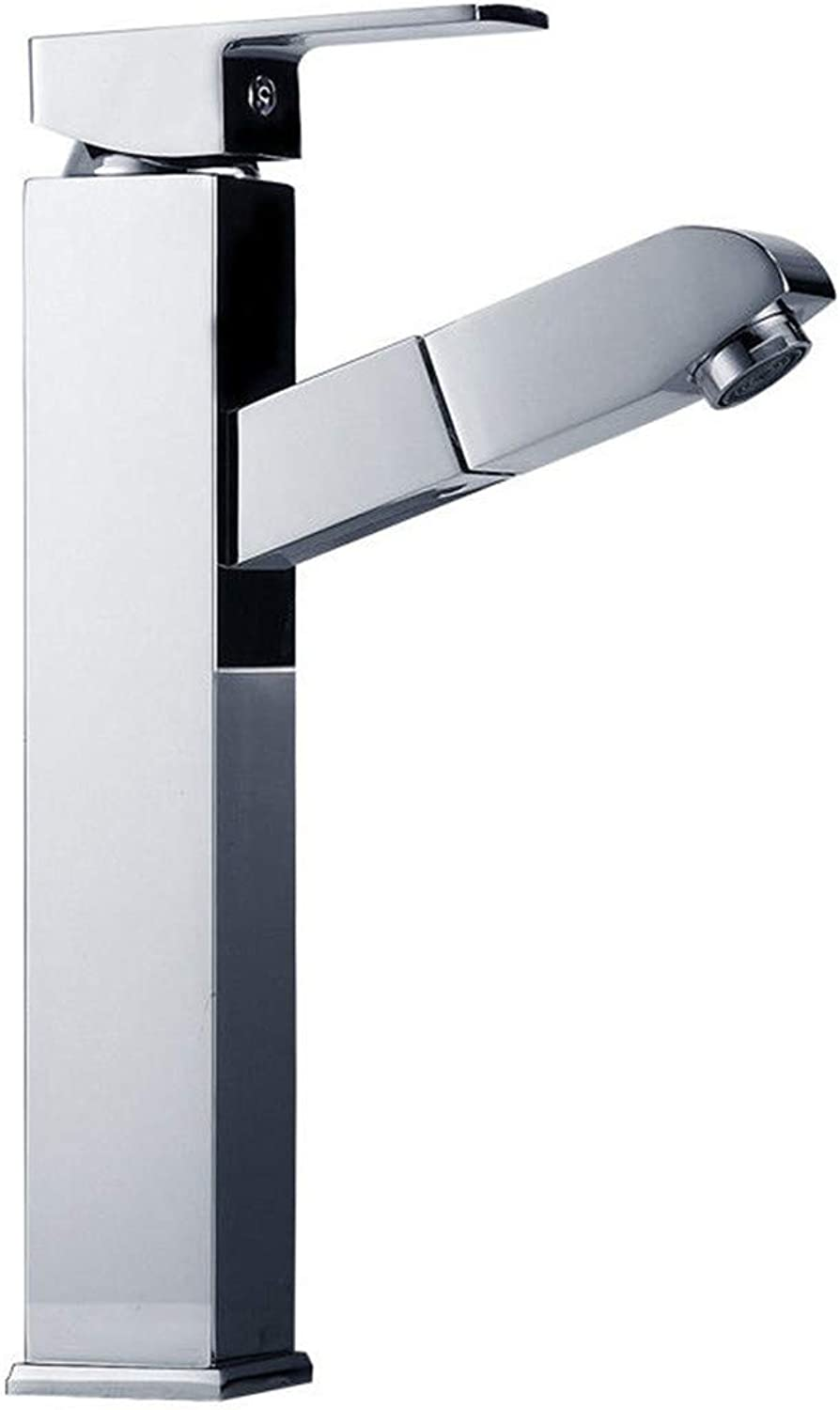 Mucert Tap,Full Copper,Cold and Hot Water,Bathroom Washbasin Faucet,A