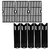 Hisencn Grill Kits for DynaGlo DGF510SBP, DGF510SSP, DGF510SSP-D, Heat Plate and Cooking Grid for Backyard BY13-101-001-13, GBC1460W, GBC1461W, GBC1462W, GBC1059WB, BH13-101-099-01, BH14-101-099-01