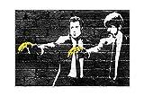 Banksy Prints Pulp Fiction Figuren halten Bananen Poster