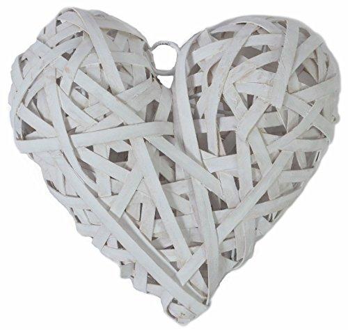 chiccie cœurs en rotin – cm – cœur suspendu – Nature Décoration Vigne cœurs en rotin, Rotin, 18 cm