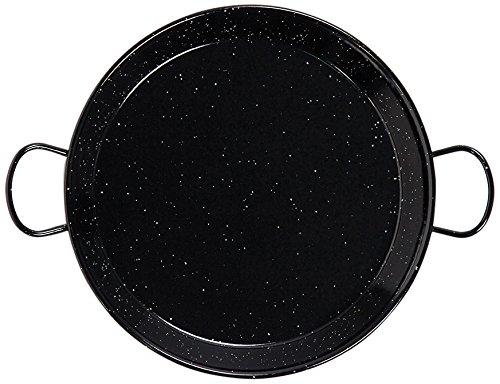 La Valenciana 38 cm, geëmailleerde pan roestvrij staal, 2 handgrepen, zwart