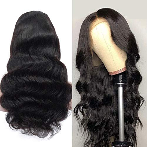 Human Hair Wigs Full Lace Wigs Human Hair 20inch Brazilian Hair Body Wave Human Hair Lace Wigs Pre Plucked Hairline with Baby Hair 180% Density