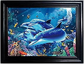 SEA WORLD FRAMED Wall Art-Lenticular Technology Causes The Artwork To Flip-MULTIPLE PICTURES IN ONE-HOLOGRAM Type Images Change-MESMERIZING HOLOGRAPHIC Optical Illusions By THOSE FLIPPING PICTURES