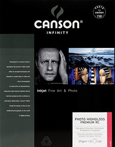 Canson 200002284 Photo High Gloss Premium RC Box, A2