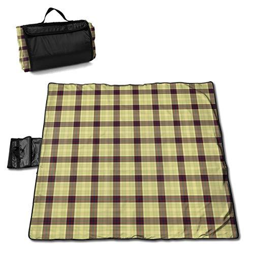 Nonebrand Uni Picknickdecke – Outdoor-Picknickdecke, waschbar, faltbar, wasserdicht, für Picknick, Camping, Strand, große Größe 144,8 x 149,9 cm