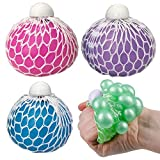 ArtCreativity Mesh Squeeze Iridescent Balls for Kids, Set of 4, Squeeze Toys in Assorted Colors for Anxiety Relief & ADHD - Birthday Party Favors, Goodie Bag Fillers, Treasure Box Prizes for Classroom