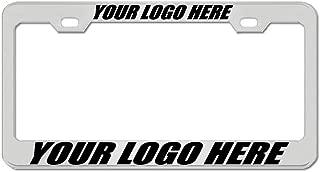 Chrome Custom Engraved License Plate Frame Tag Holder