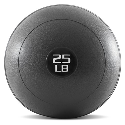 ProsourceFit Slam Medicine Balls 25lbs Smooth Textured Grip Dead Weight Balls for Crossfit Strength amp Conditioning Exercises Cardio amp Core Workouts