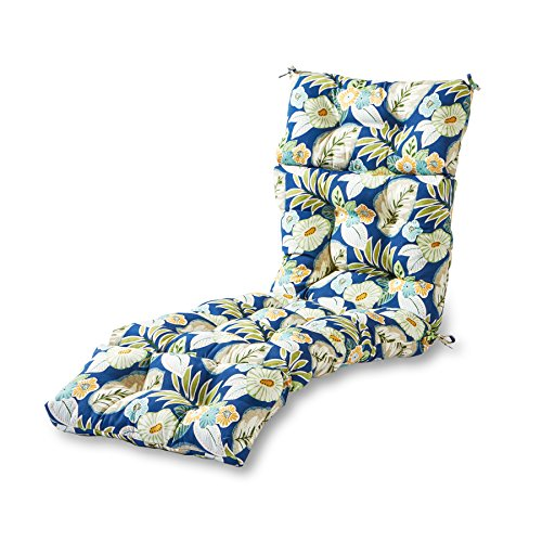 Greendale Home Fashions Indoor/Outdoor Chaise Lounger Cushion, 72-Inch, Marlow