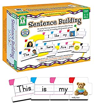 Key Education Sentence Building for Kids—Sight Word Builder for Early Reading Speech Writing Language Literacy Resource for Kindergarten-2nd Grade