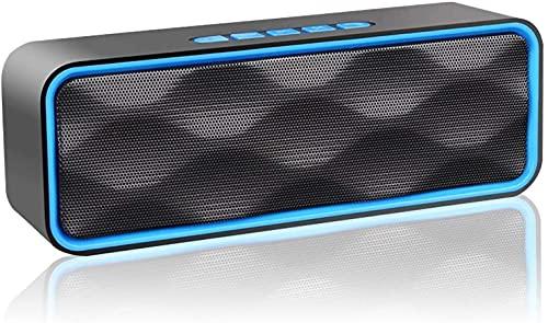 Altavoz Bluetooth Portátil Inalámbrico Estereo Exteriores con Audio HD Altavoz de Doble Controlador Integrado, Bluetooth 4.2, Llamadas Manos Libres y TF Tarjeta (Azul)