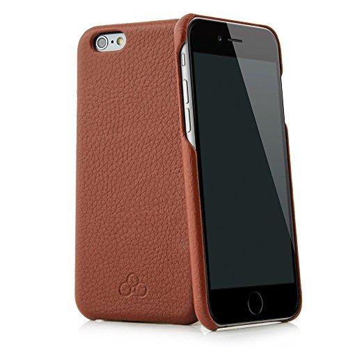 QUADOCTA custodia in pelle cover per case 'No. 4' per iPhone Apple 6 6s Plus 5,5 pollici Tabacco in vera pelle. Sottile custodia in pelle, elegante accessorio per l'iPhone 6 6s Plus (5,5') Apple originale