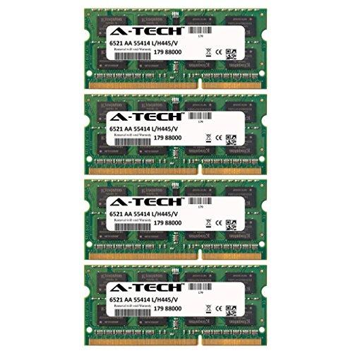 32GB KIT (4 x 8GB) for IBM-Lenovo Thinkpad Notebook Series W520 (4 Slots) W530 (Quad Core). SO-DIMM DDR3 Non-ECC PC3-12800 1600MHz RAM Memory. Genuine A-Tech Brand.