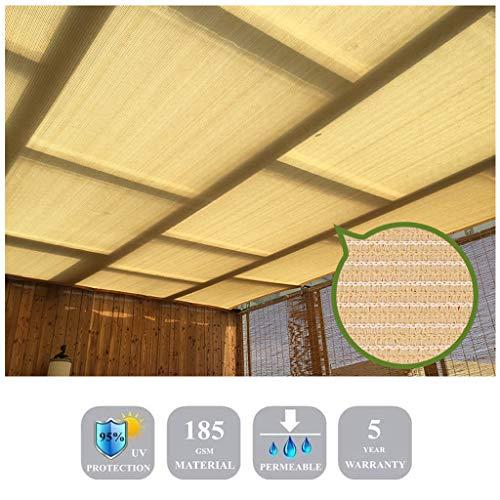 Toldo de toldo JHome-Handrails color beis, impermeable, protección solar, toldo anti UV, perfecto para jardín, patio, fiesta, patio o césped., Material de polietileno de alta densidad., 10x10x10ft