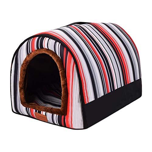 Pet Tent Cave Bett Für Katzen/Kleine Hunde - Pet Nest Langlebig Bequemes Baumwollbett Zwinger Hauszelt Mit Abnehmbarem Waschbarem - Indoor Outdoor Pet Betten