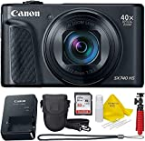 Canon Powershot SX740 (Black) Point & Shoot Digital Camera + Accessory Bundle + Top Knotch Kit