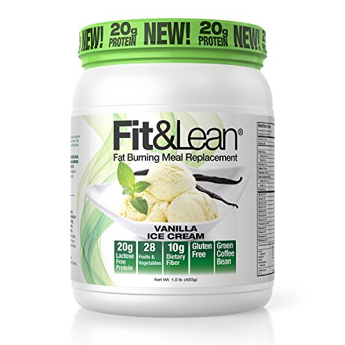 Fit & Lean Fat Burning Meal Replacement, Vanilla, 0.97 lb