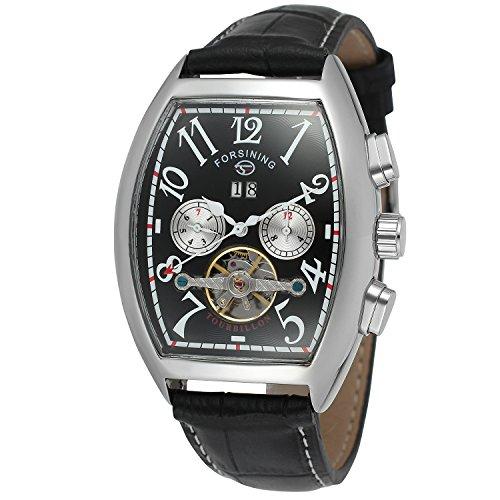 Forsining, orologio da polso per uomo, con calendario, stile steampunk, meccanismo automatico Tourbillon, FSG9409M3S3