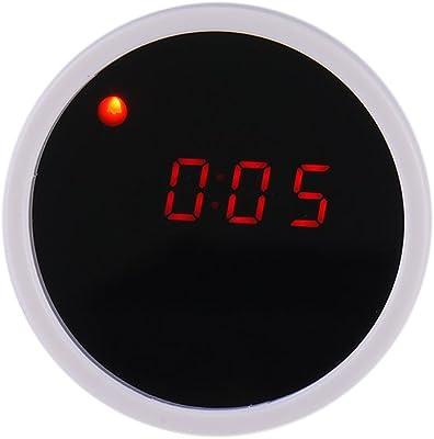 Reloj despertador digital con indicador de fecha, Snooze Alarm Clock como Espejo LED Display lianle