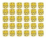 Hyamass 30pcs Rhinestone Aluminum Gold Dreadlocks Beads Metal Hair Ring Decoration Braiding Hair Jewelry(Gold)